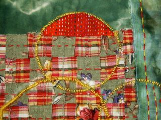 Circles:Squares Fabric Collage 1