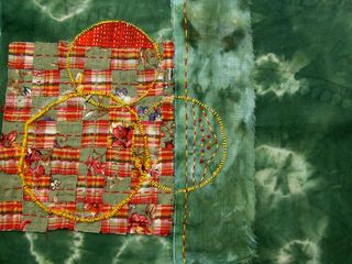 Circles:Squares Fiber Collage